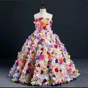 Girl Ball Gown Flower Dress